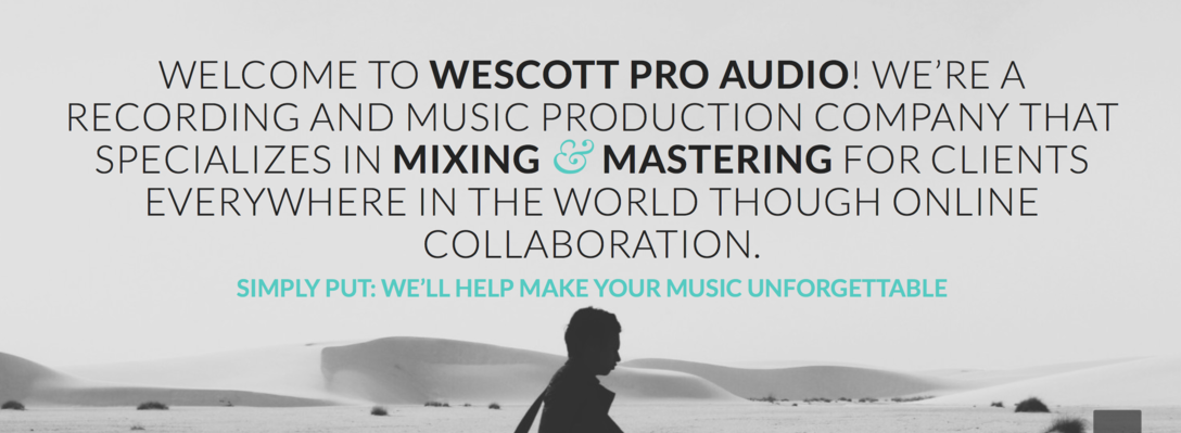 Wescott Pro Audio on SoundBetter