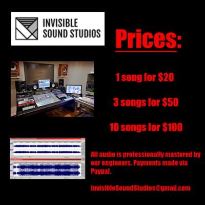 Invisible Sound Studios on SoundBetter